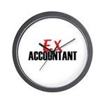 Ex Accountant Wall Clock