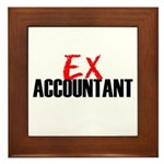 Ex Accountant Framed Tile