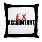Ex Accountant Throw Pillow