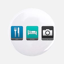 """Eat, Sleep, Photography 3.5"""" Button (100 pack)"""