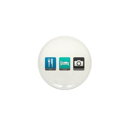 Eat, Sleep, Photography Mini Button (10 pack)