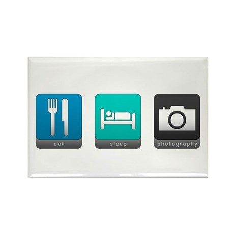 Eat, Sleep, Photography Rectangle Magnet (10 pack)