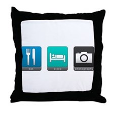 Eat, Sleep, Photography Throw Pillow