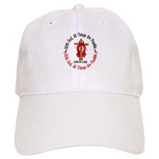 With God Cross HIV AIDS Baseball Cap