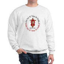 With God Cross HIV AIDS Sweatshirt