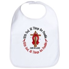 With God Cross HIV AIDS Bib