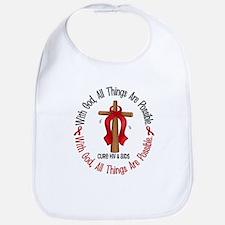 With God Cross HIV AIDS Bib