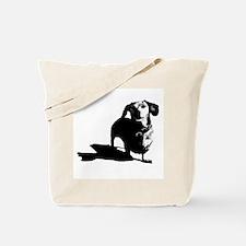 daschund sketch Tote Bag
