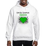 SCT Survivor Grunge Heart Hooded Sweatshirt