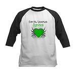 SCT Survivor Grunge Heart Kids Baseball Jersey