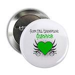 """SCT Survivor Grunge Heart 2.25"""" Button (100 pack)"""