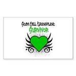 SCT Survivor Grunge Heart Rectangle Sticker 50 pk
