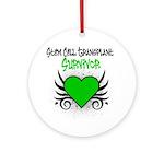 SCT Survivor Grunge Heart Ornament (Round)