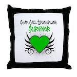 SCT Survivor Grunge Heart Throw Pillow