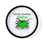 SCT Survivor Grunge Heart Wall Clock