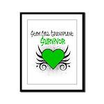 SCT Survivor Grunge Heart Framed Panel Print