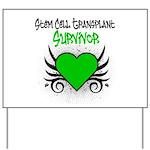 SCT Survivor Grunge Heart Yard Sign