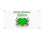 SCT Survivor Grunge Heart Banner