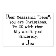 """Dear Messianic """"Jews"""": Postcards (Package of 8)"""