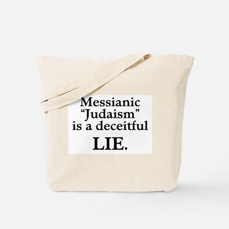 """Messianic """"Judaism"""": Deceitful Lie Tote Bag"""