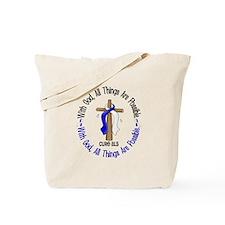 With God Cross ALS Tote Bag