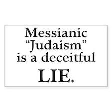 """Messianic """"Judaism"""": Deceitful Lie Decal"""