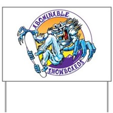 Abominable Snowboards Yard Sign