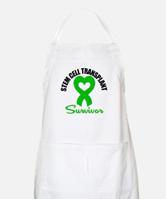 SCT Survivor Heart Ribbon BBQ Apron