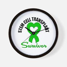 SCT Survivor Heart Ribbon Wall Clock
