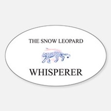 The Snow Leopard Whisperer Oval Decal