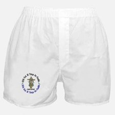 With God Cross Autism Boxer Shorts