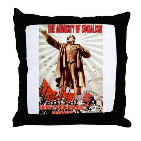 communist obama Throw Pillow