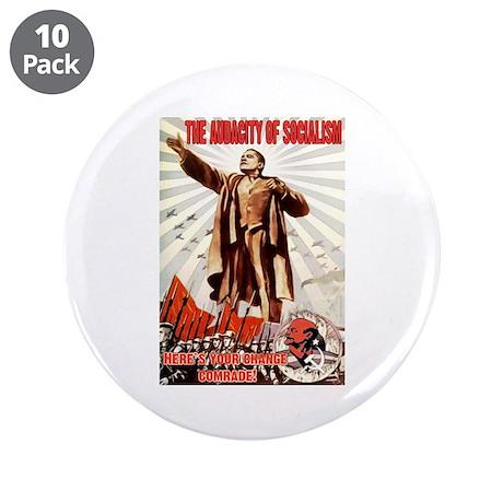"""communist obama 3.5"""" Button (10 pack)"""