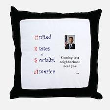 USSA Throw Pillow