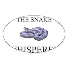 The Snake Whisperer Oval Decal