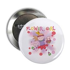 """Funtime Flower Girl 2.25"""" Button"""