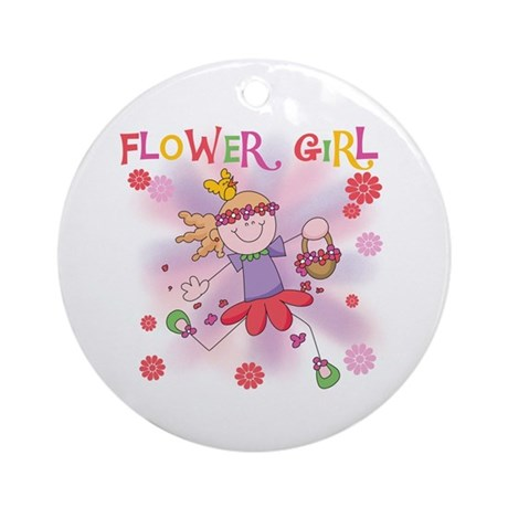 Funtime Flower Girl Ornament (Round)