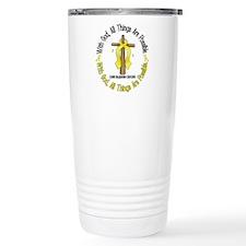 With God Cross BLADDER CANCER Travel Mug