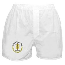 With God Cross BLADDER CANCER Boxer Shorts
