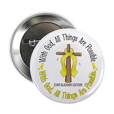 "With God Cross BLADDER CANCER 2.25"" Button (10 pac"