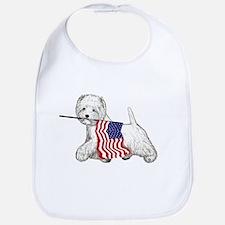 Patriotic Westie Bib