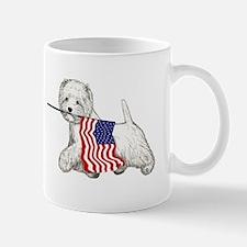 Patriotic Westie Mug