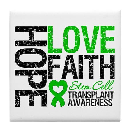 SCT Hope Love Faith Tile Coaster