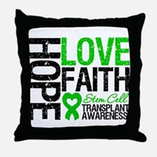 SCT Hope Love Faith Throw Pillow