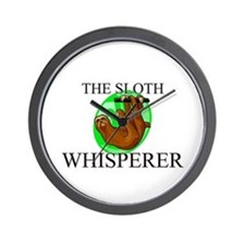 The Sloth Whisperer Wall Clock