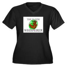 The Sloth Whisperer Women's Plus Size V-Neck Dark