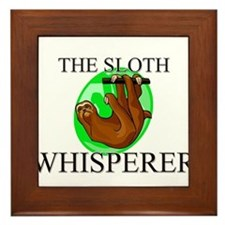 The Sloth Whisperer Framed Tile