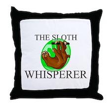 The Sloth Whisperer Throw Pillow