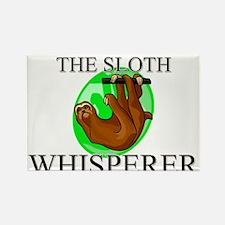 The Sloth Whisperer Rectangle Magnet
