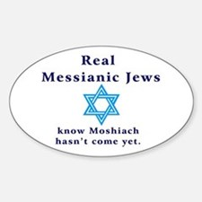 Real Messianic Jews Oval Decal